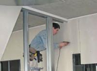 Praca Niemcy na budowie montowanie płyt kartonowowo gipsowych Pforzheim