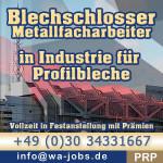 Dam pracę w Niemczech Ślusarz – Specjalista do obróbki metali przemysłowych i blachy