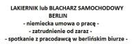 Lakiernik samochodowy – dam pracę w Niemczech, Berlin blisko granicy