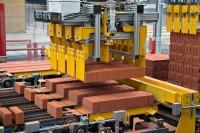 Praca Niemcy na produkcji w fabryce cegieł blisko granicy Zgorzelec-Görlitz