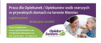 Opiekunka do starszej pani od 01.09 – praca Niemcy w Blumberg