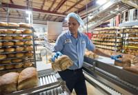 Pracownik produkcji Niemcy praca pakowanie chleba tostowego w Weissenfells