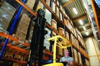 Operator wózka widłowego wysokie składowanie praca Niemcy, Ulm