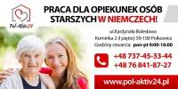Dam pracę w Niemczech jako opiekunka starszego Pana Wolfganga, Monachium od stycznia 2018
