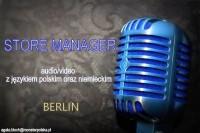 Dam pracę w Niemczech jako kierownik sklepu ze sprzętem audio/video Berlin