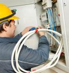 Hamburg, praca Niemcy na budowie jako pomocnik elektryka (kładzenie kabli)
